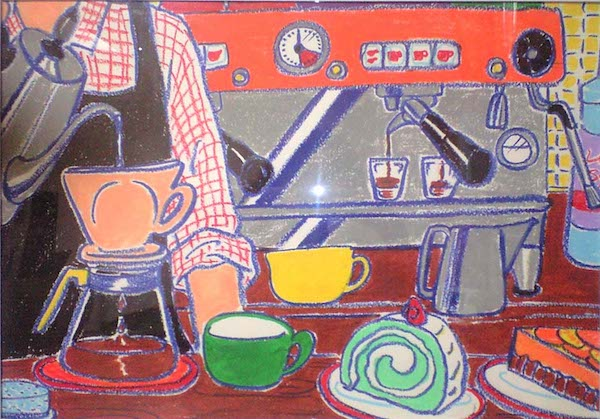 カフェの光景